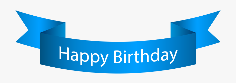 Banner Clipart Happy Birthday.
