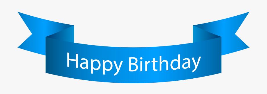 Banner Clipart Happy Birthday.