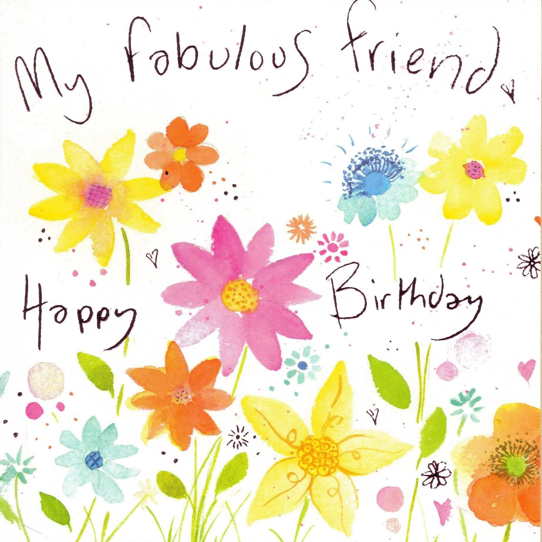 My Fabulous Friend Happy Birthday Graphic 28soimT4.