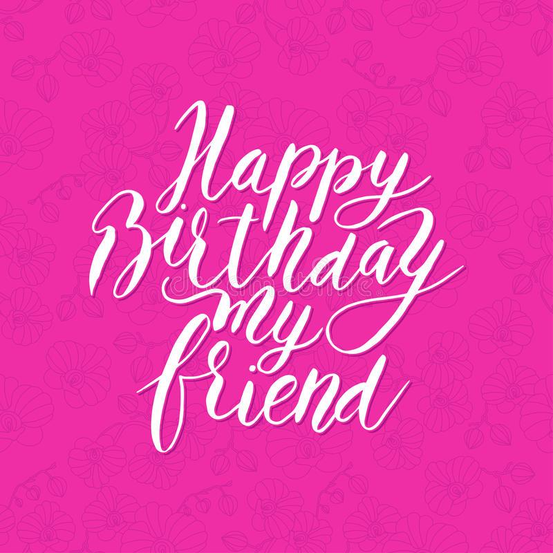 Birthday Friend Happy Stock Illustrations.