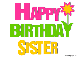 Image result for free clipart birthday sister.