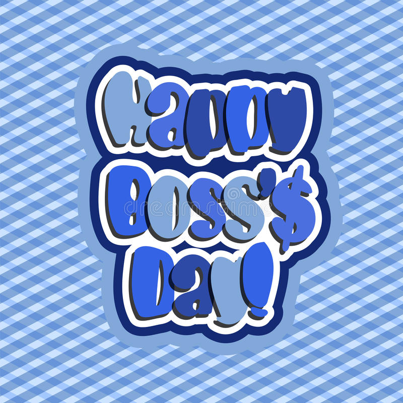 Happy Boss Day Stock Illustrations.