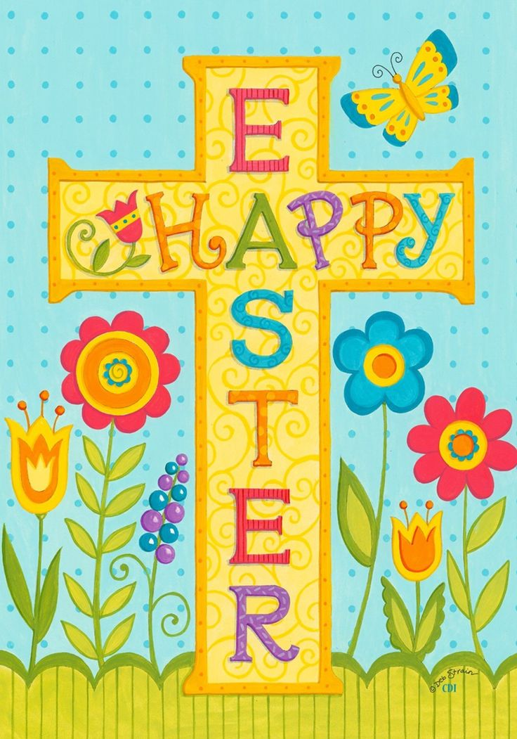 Happy Easter Religious Clipart.