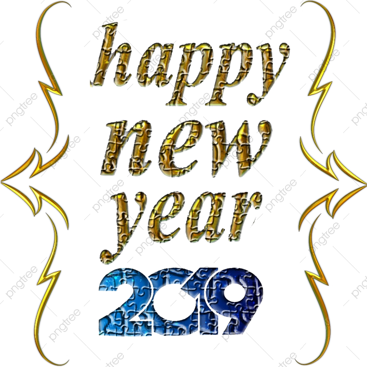 2019 Happy New Year Png And Vector Free Downlod, 2019, Happy, New.