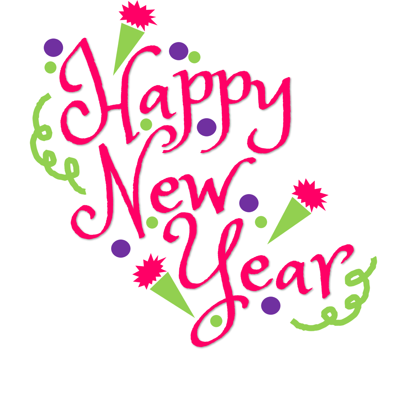 Happy New Year 2019 Clipart to printable.