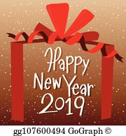 Happy New Year 2019 Clip Art.