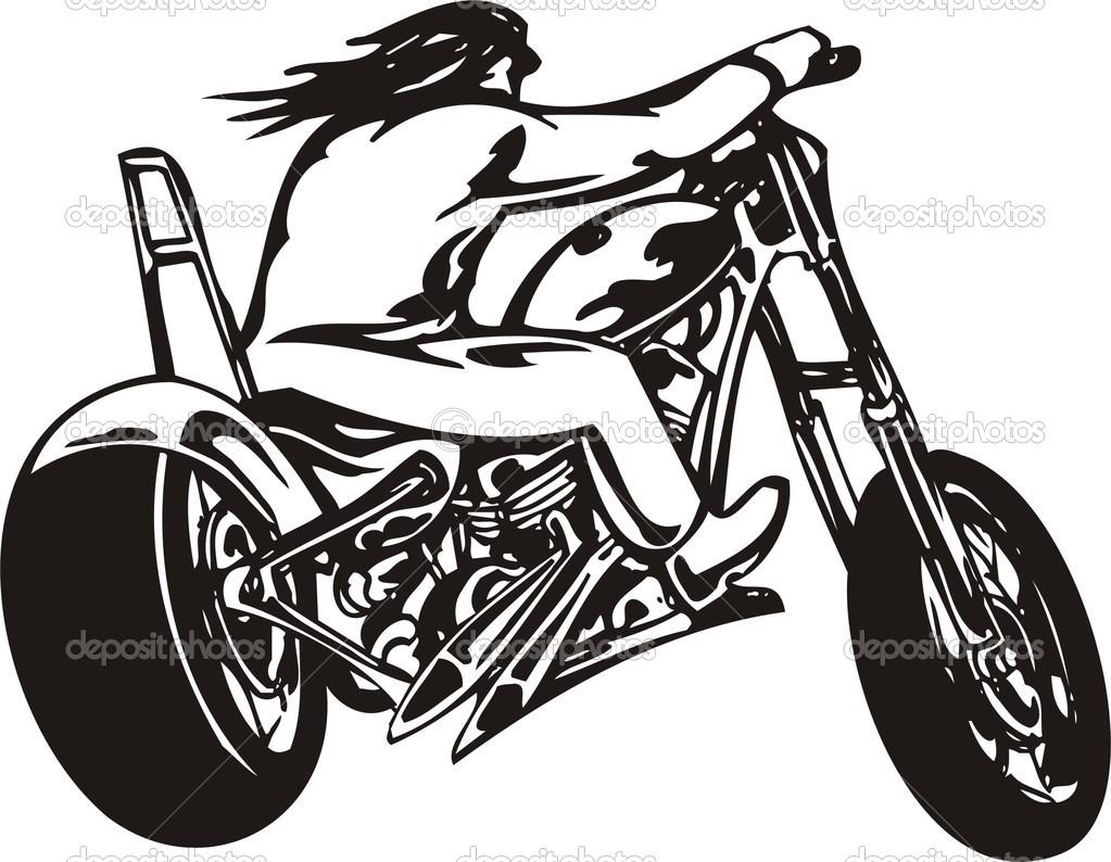 Harley Davidson Motorcycle Cliparts.