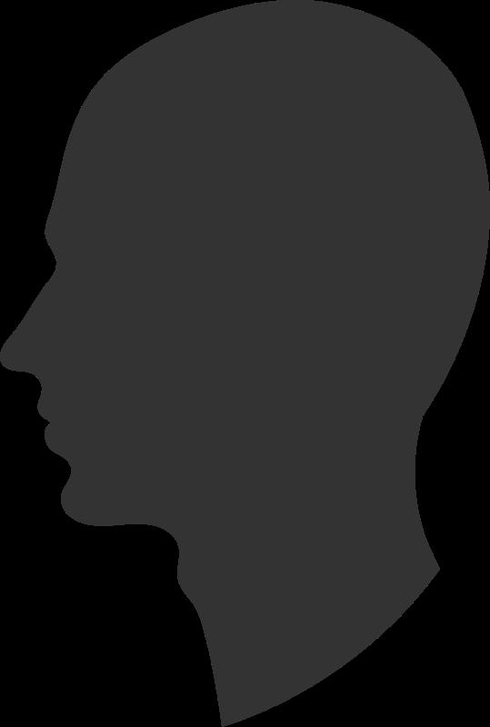 Free Clipart: Head profile.