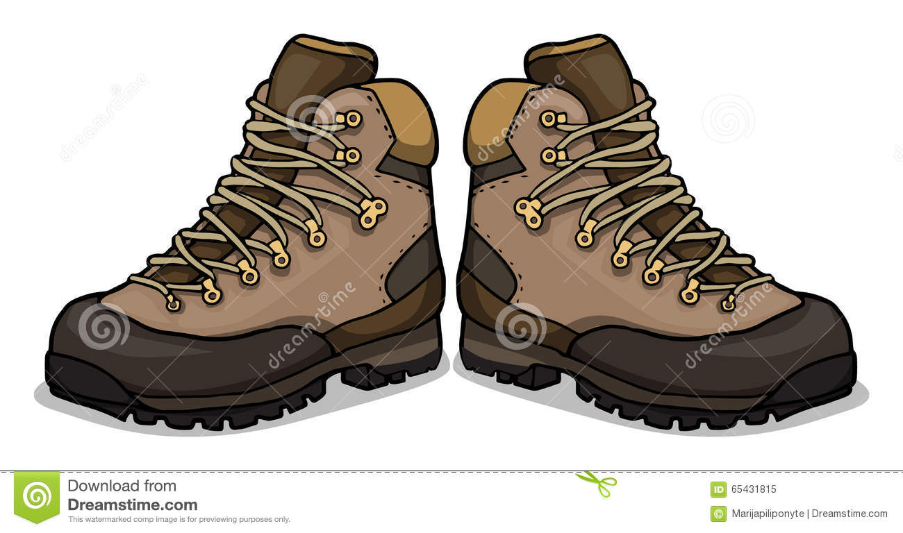 Hiking shoes stock vector. Illustration of boot, background.