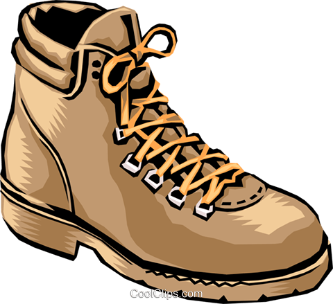 Hiking shoes Royalty Free Vector Clip Art illustration.