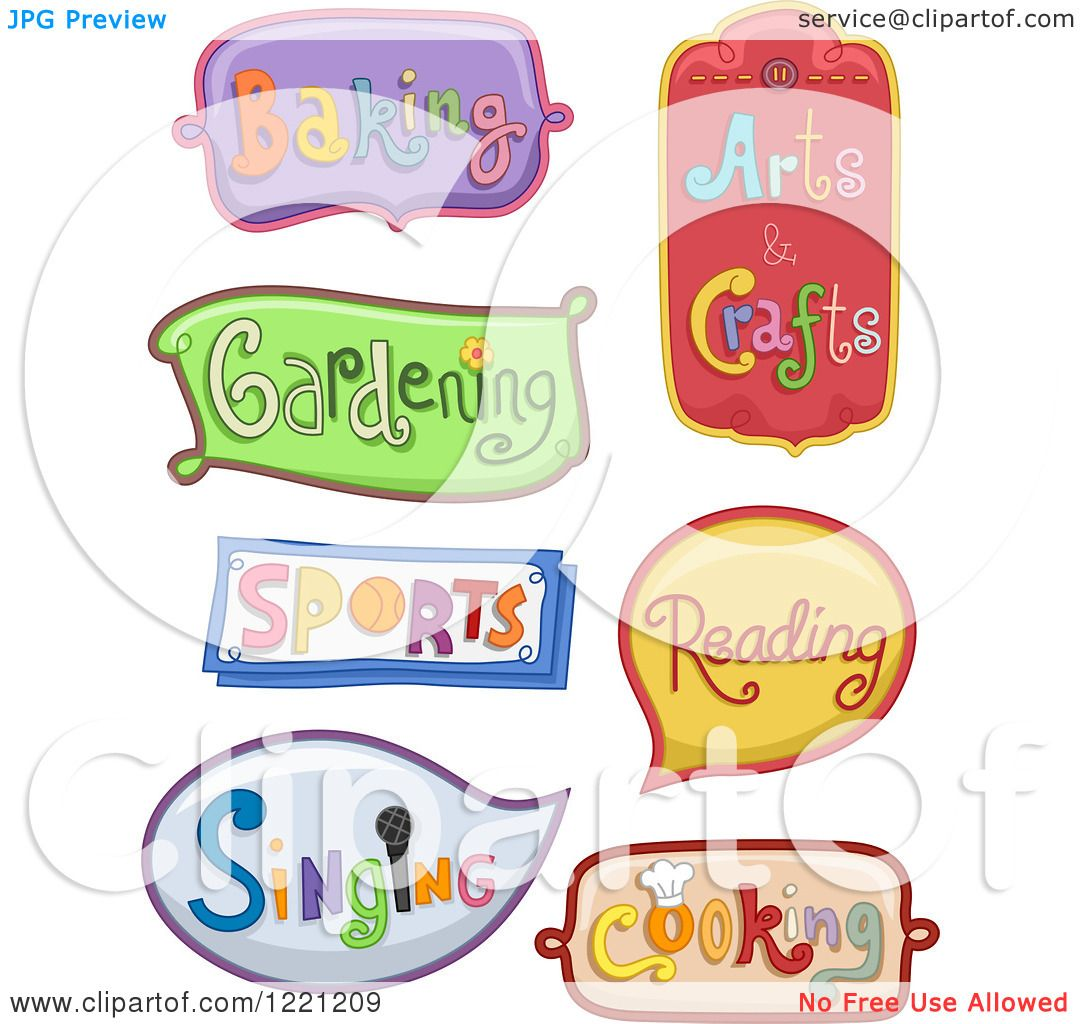Clipart of Decorative Hobby Labels.