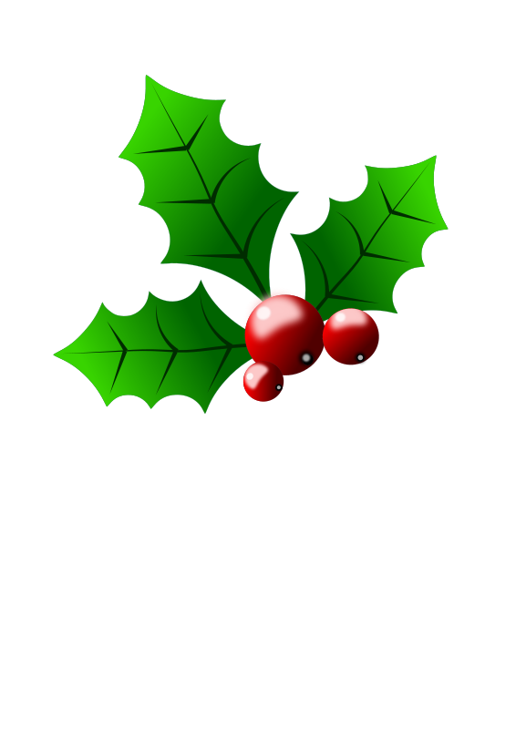 Free Clipart: Holly_berries.