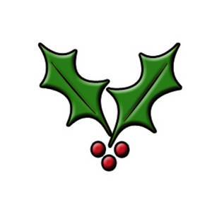Free clipart holly leaves 1 » Clipart Portal.