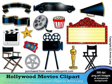 Free Hollywood Theme Cliparts, Download Free Clip Art, Free Clip Art.