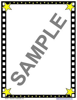 free Hollywood Border Clip Art.