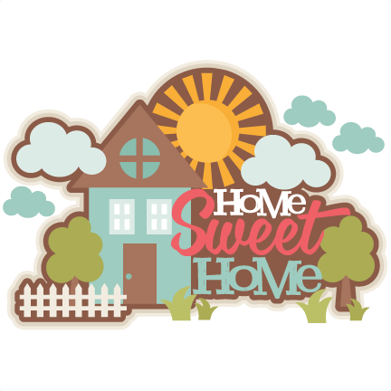 Home Sweet Home Title SVG scrapbook cut file cute clipart files for.