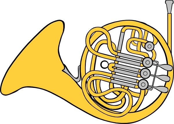 French Horn clip art Free vector in Open office drawing svg ( .svg.