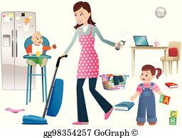 Household Chores Clip Art.
