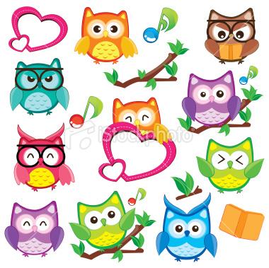 Owl clip art images.