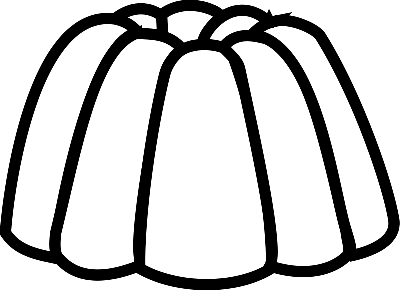 Free Clipart: Jelly Line Art.