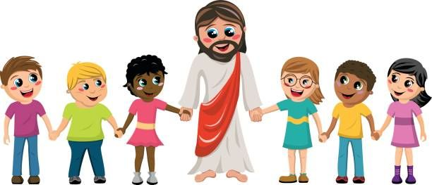 Free Of Jesus With Children Clip Art, Vector Images.