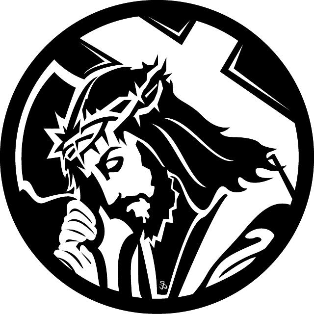 JESUS CARRYING THE CROSS VECTOR.