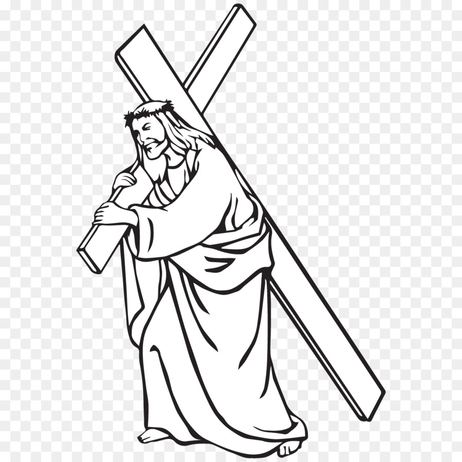 Free Jesus Carrying Cross Silhouette, Download Free Clip Art, Free.