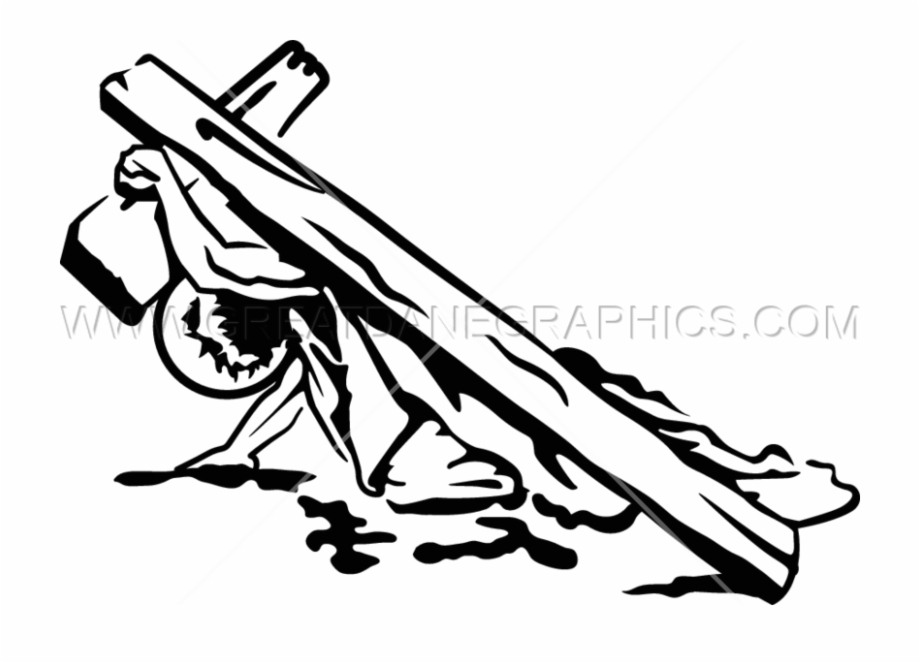 Svg Royalty Free Jesus Carrying The Cross.