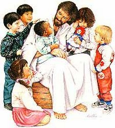 Jesus With Children Clipart Sheets 2649.
