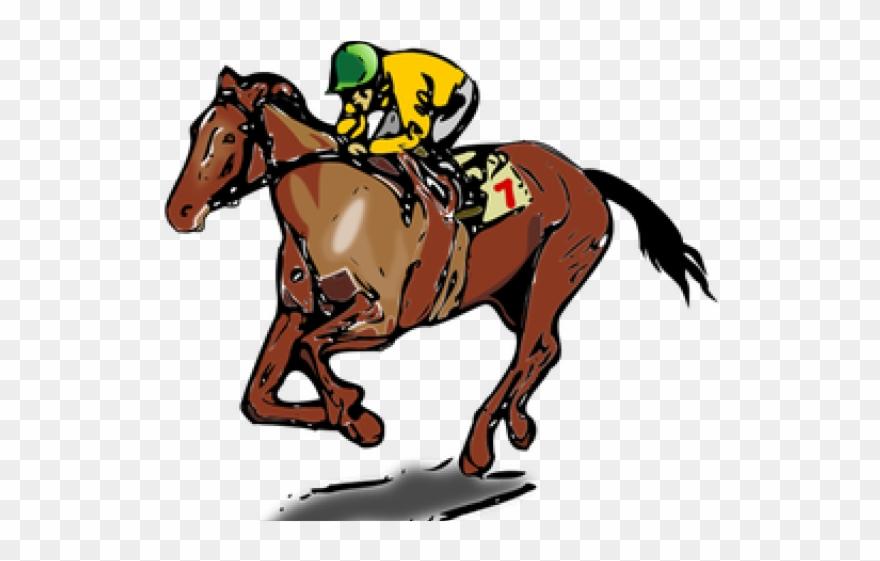 Horse Racing Clipart Border.