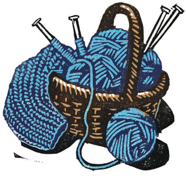 knitting royalty free clipart.
