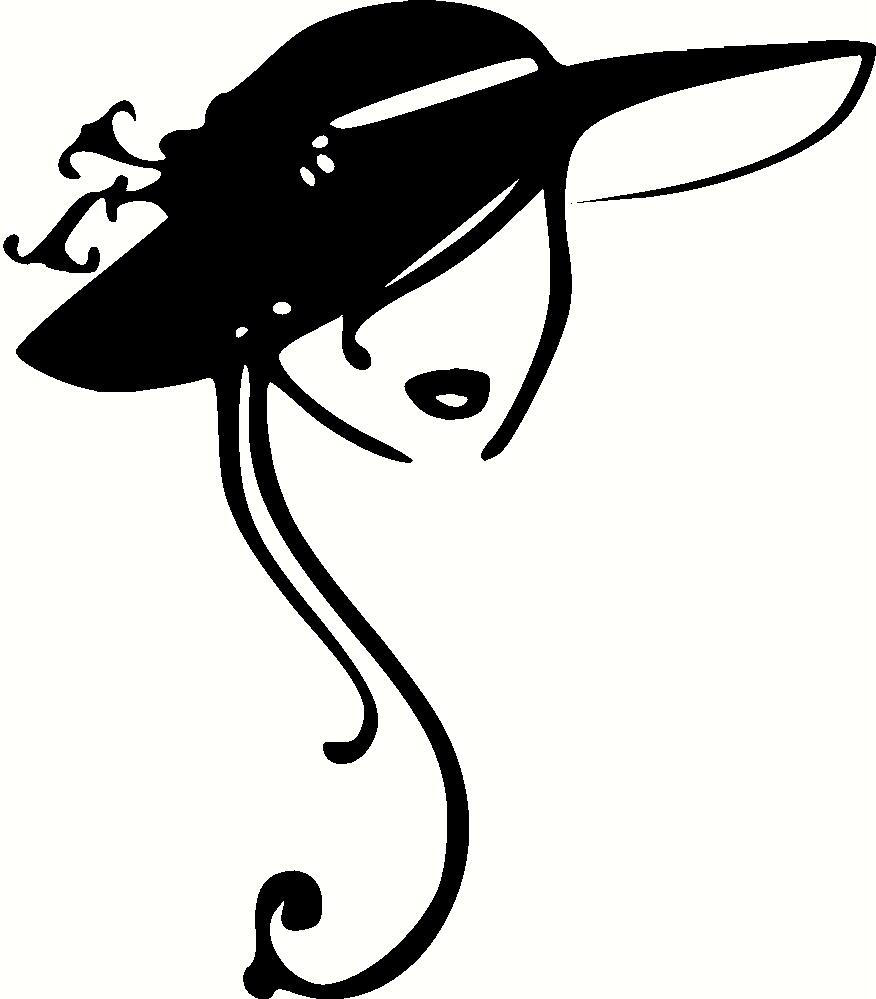 Vintage Ladies Hats Clip Art N2 free image.