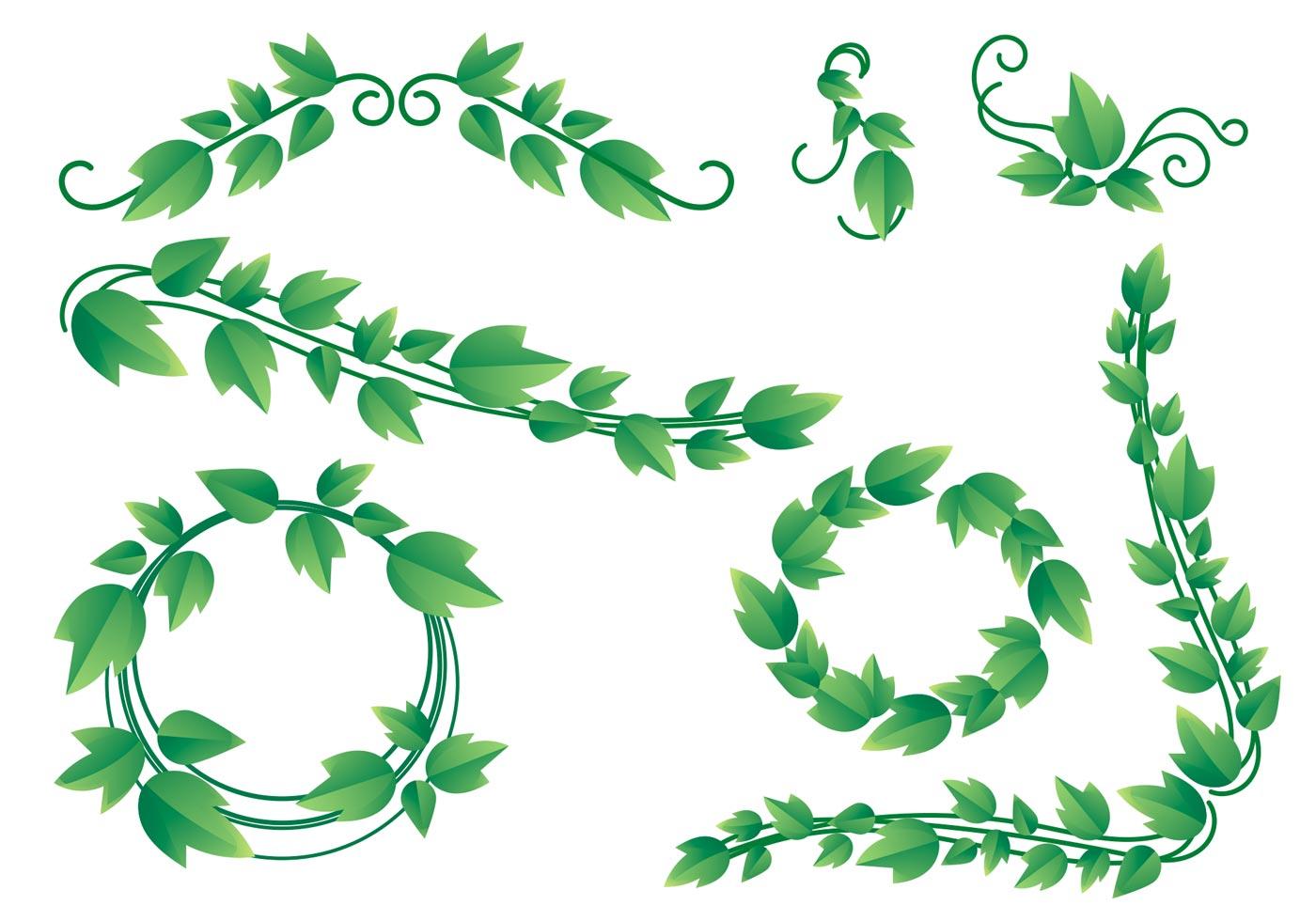 Vine Leaves Free Vector Art.
