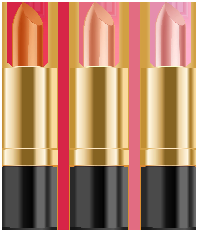 Lipstick Set Clip Art PNG Image.