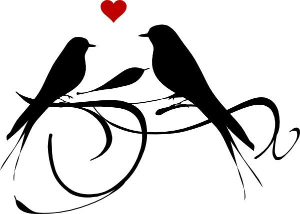 Love Bird Silhouette Google Search Clip Art Printables.