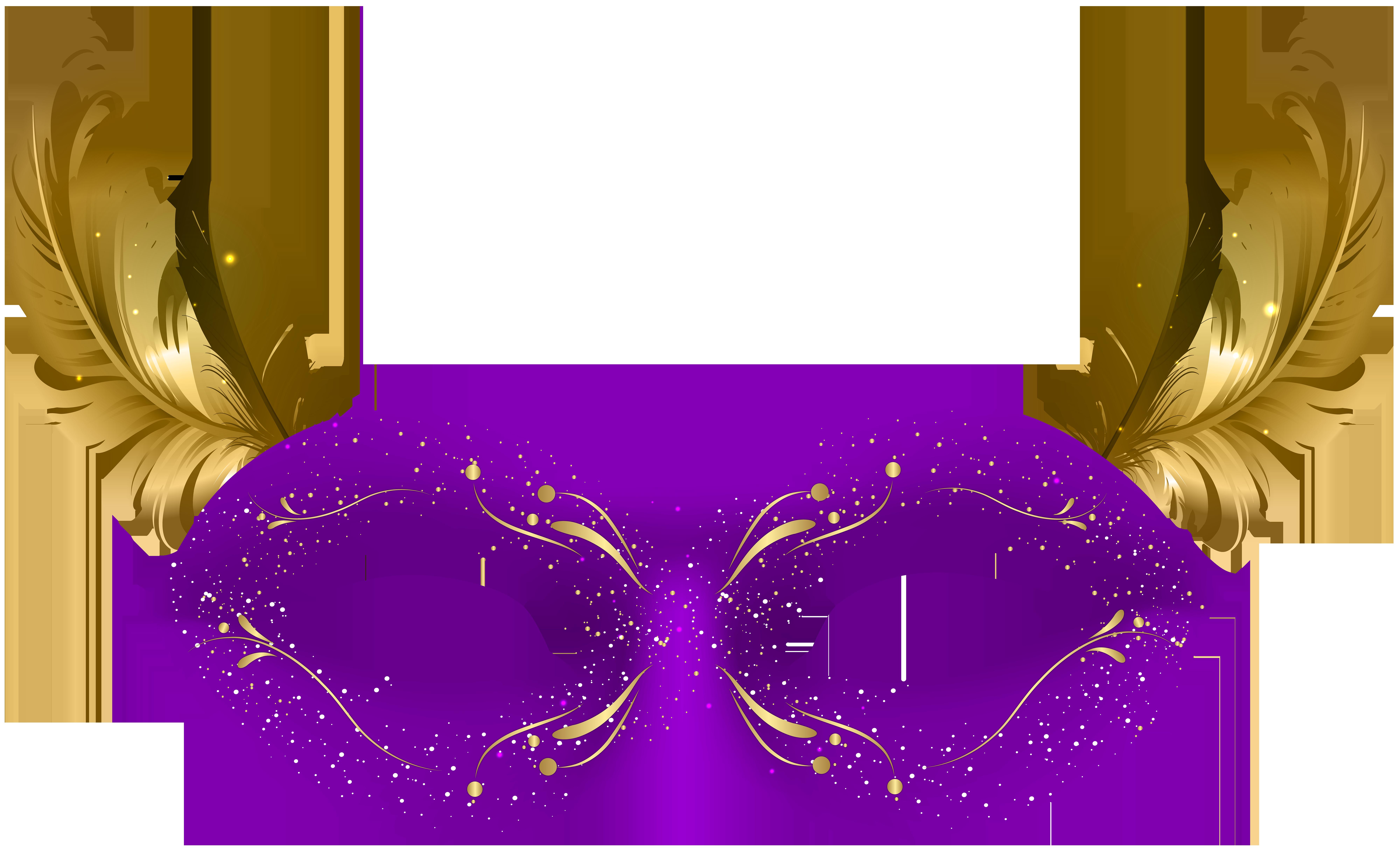 Purple Carnival Mask PNG Clip Art.