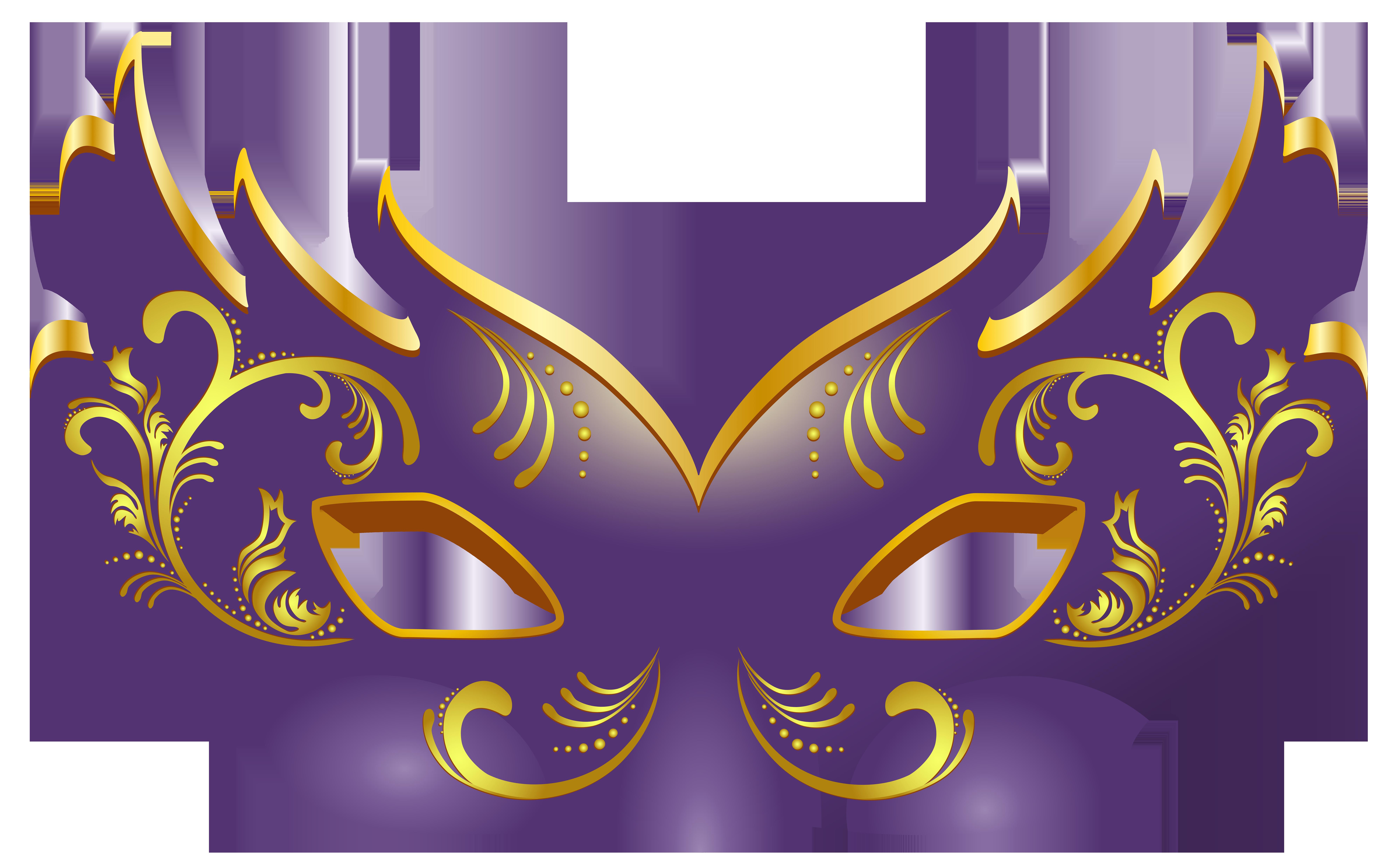 Purple Mask PNG Clip Art Image.