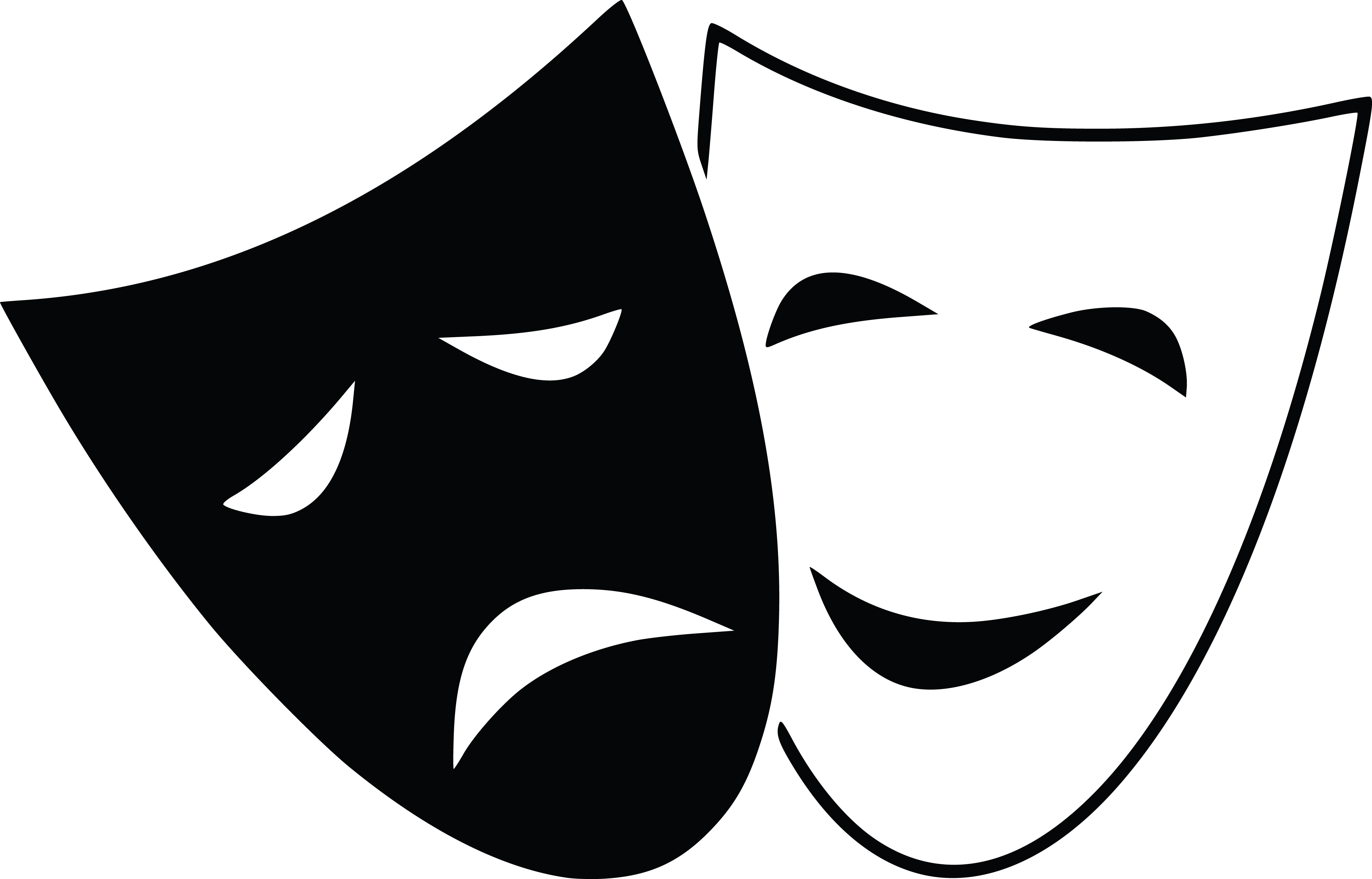 Free Clipart Of theater masks.