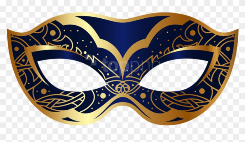 Free Png Download Dark Blue Carnival Mask Clipart Png.