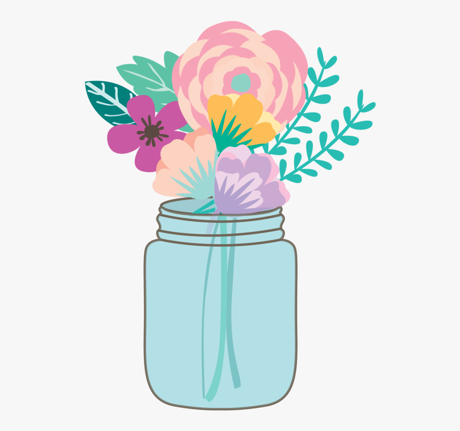 Flowers Clipart Mason Jar.