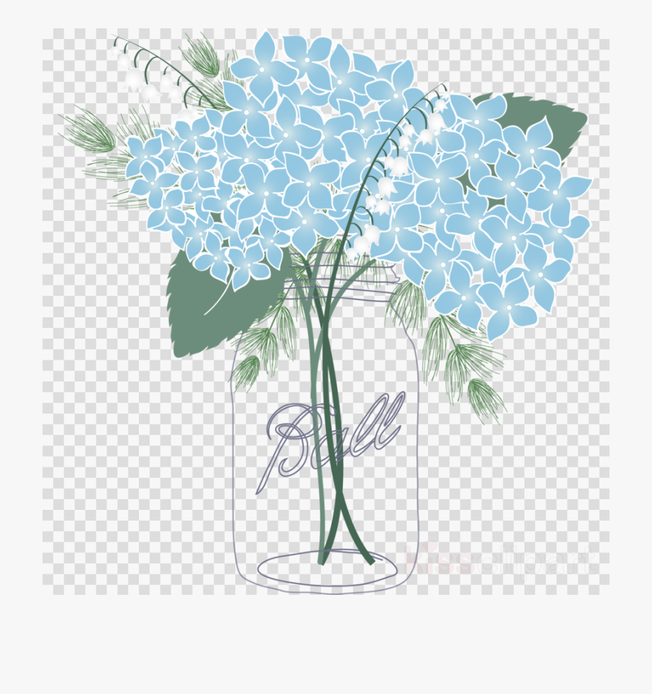 Mason Jar Clip Art Flower.