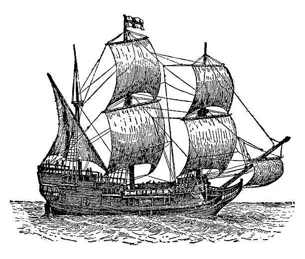 Best Mayflower Illustrations, Royalty.