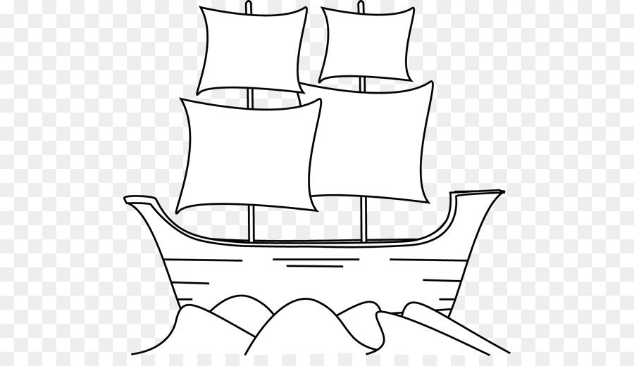 Download Free png Ship Piracy Boat Clip art Silhouttee Mayflower.