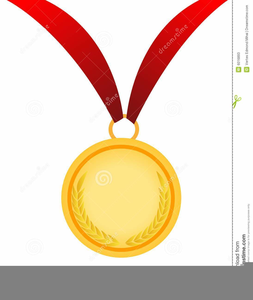 Gold Medal Award Clipart.