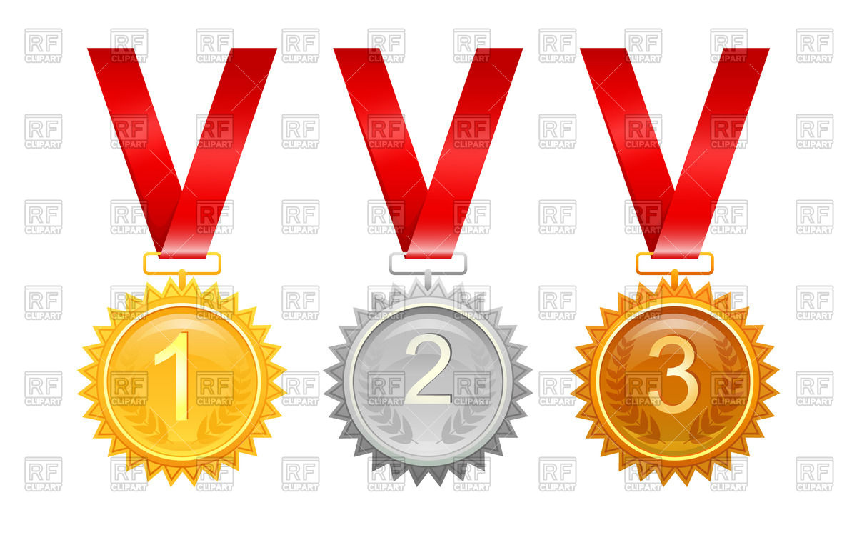 Medals for awards Stock Vector Image.