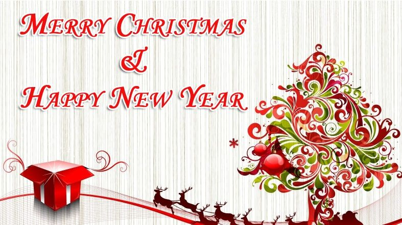 merry christmas and happy new year images.