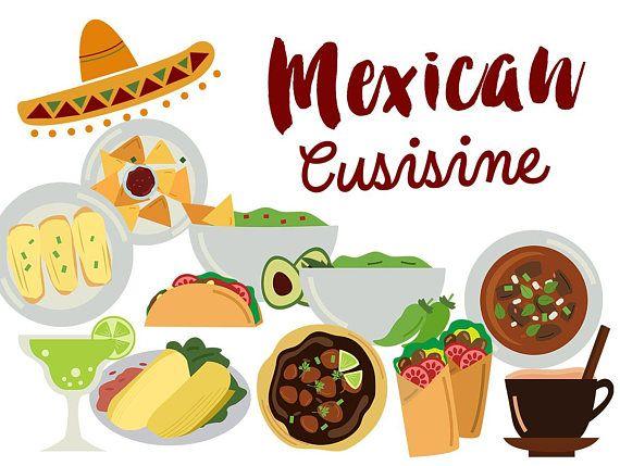 Mexico Clip Art, mexican food clipart, mexican cuisine Tacos Tamales.