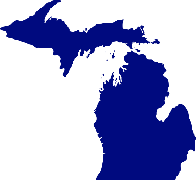 Free Clipart: State of Michigan.