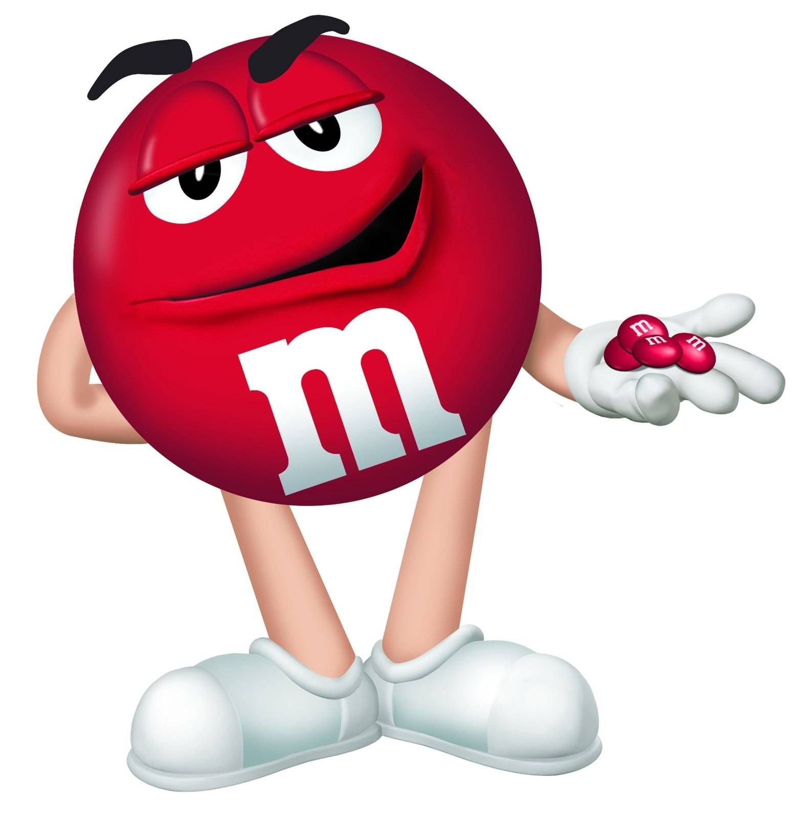 Image result for m and m chocolate red smile.