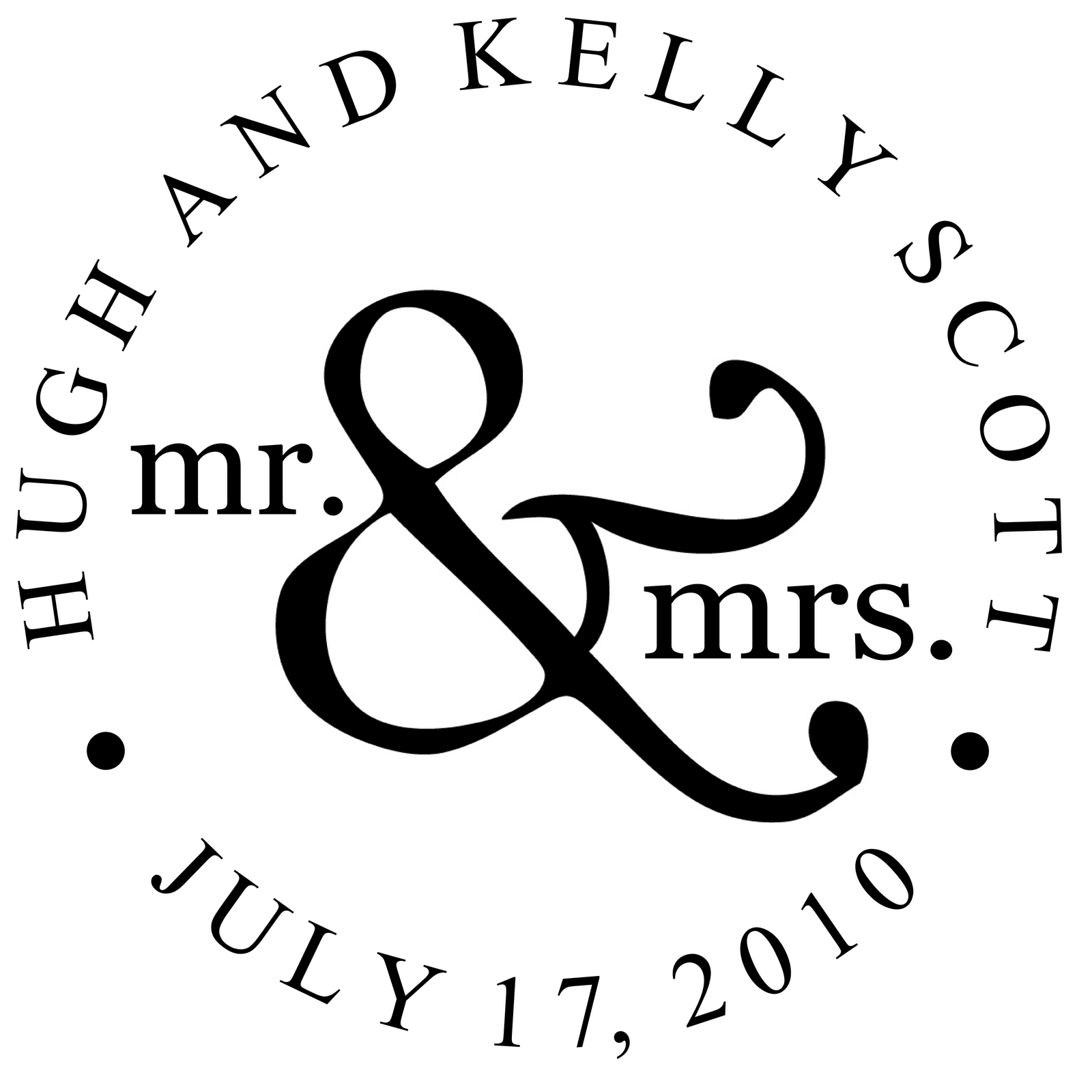 S Monogram Wedding.